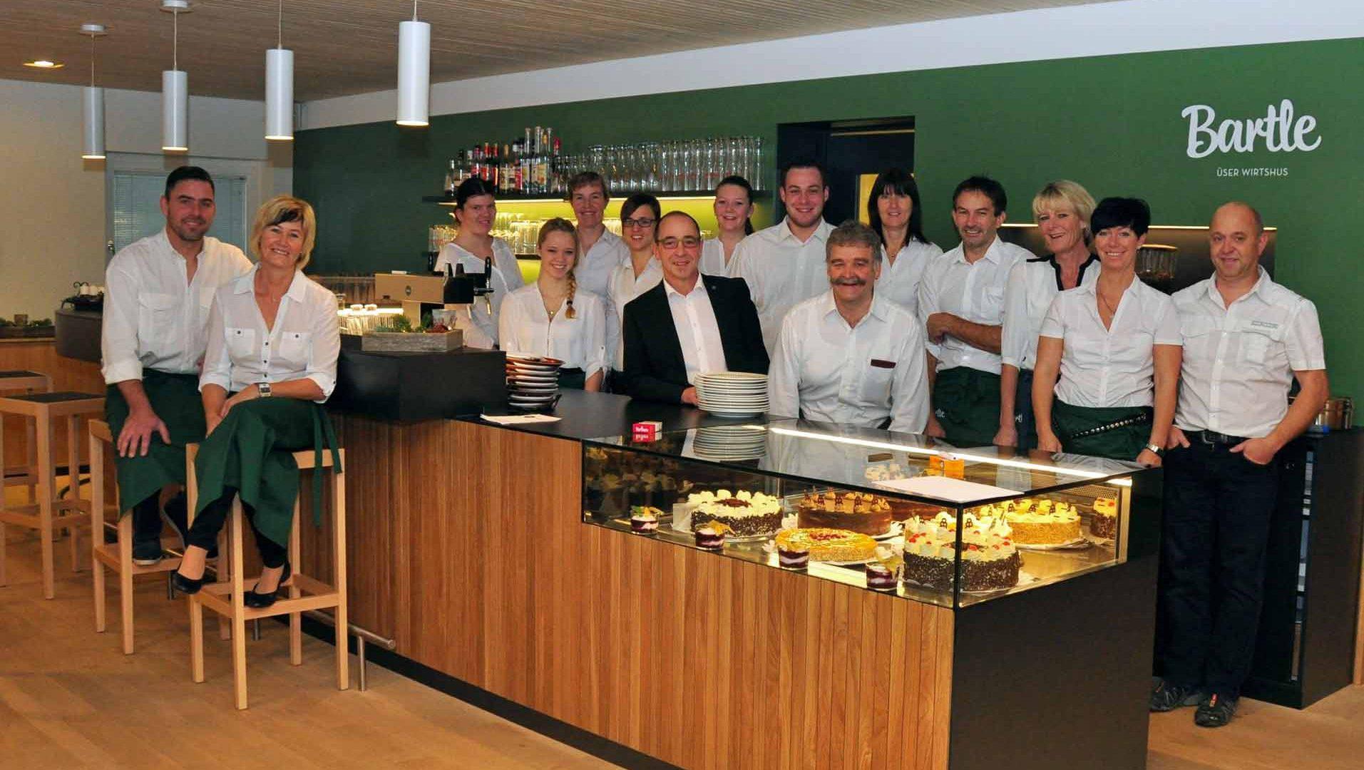 Das Team von Bartle besteht aus fünf fix angestellten Mitarbeiter/innen und zahlreichen freiwilligen Helfern. ©Gemeinde Riefensberg