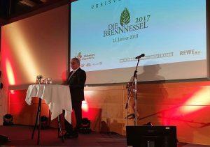 """Gemeindebund-Präsident Alfred Riedl hielt die Keynote: """"Besonders freut mich, dass so viele Kindergärten und Schulen von dem Preisgeld profitieren. Wo sonst ist das Geld besser eingesetzt als bei der nächsten Generation?"""" ©Gemeindebund"""