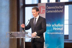 Bundeskanzler Sebastian Kurz versicherte, dass die Bundesregierung ein Partner des ländlichen Raums sein will. ©Jürg Christandl/Gemeindebund
