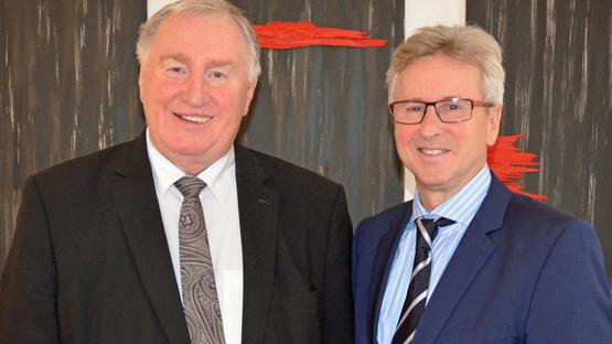 Gute Gesprächsbasis zwischen AdR-Präsident Karl-Heinz Lambertz und Gemeindebund-Generalsekretär Walter Leiss.