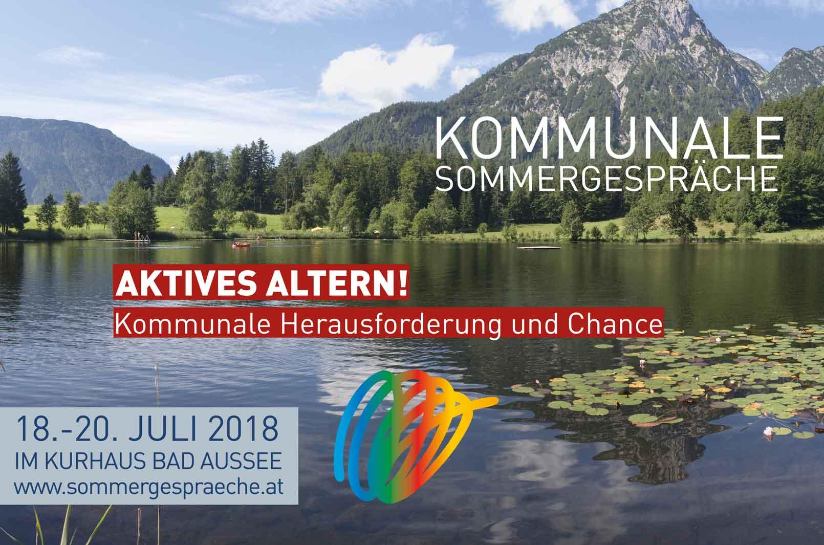 2018 werden Markus Hengstschläger, Julian Hadschieff, Wolfgang Mazal, Gottfried Haber und viele mehr bei den Kommunalen Sommergesprächen von 18. bis 20. Juli in Bad Aussee erwartet.