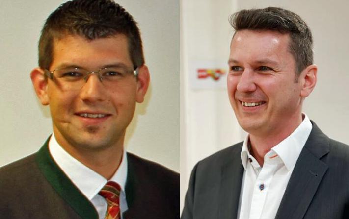 Mit Martin Gruber (links im Bild) und Daniel Fellner ist die Kommunalebene stark in der Landesregierung vertreten.(Bild: ZVG)