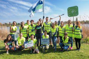 Das motivierte Team von Global2000 beim World Cleanup Day ©MartinAschauer