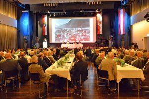 Fast alle Vorarlberger Bürgermeister nahmen am Vorarlberger Gemeindetag 2019 im Spannrahmen in Hard teil. ©Vorarlberger Gemeindeverband/Alexandra Serra
