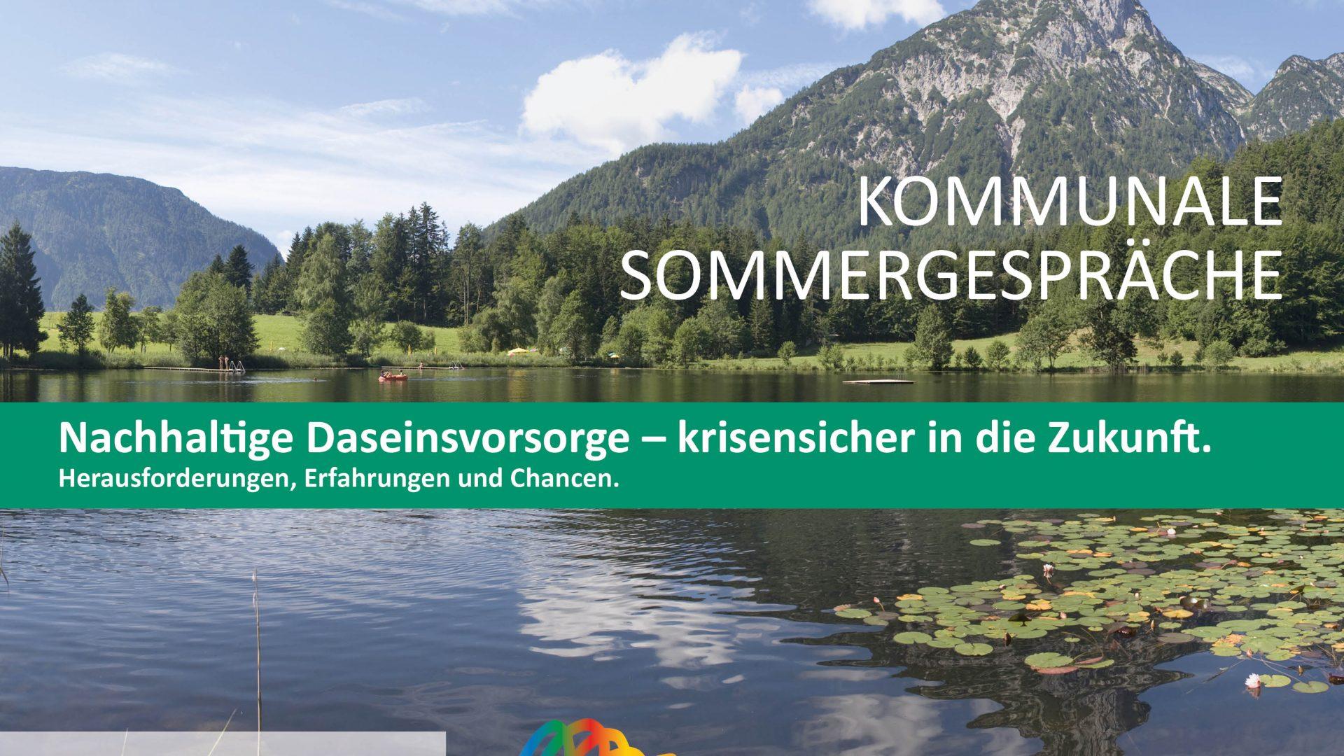 Die diesjährigen Kommunalen Sommergespräche finden von 27. bis 28. August 2020 in Bad Aussee statt.
