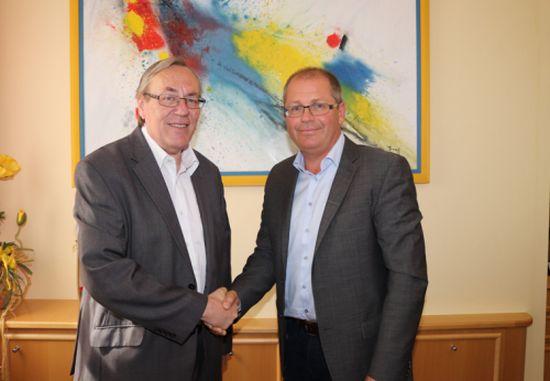 Bernd Osprian (Bärnbach) und Ernst Meixner (Voitsberg) haben die Vision von Voitsberg-Bärnbach mit mehr Einnahmen und effizienteren Strukturen. ©Robert Ceskutti