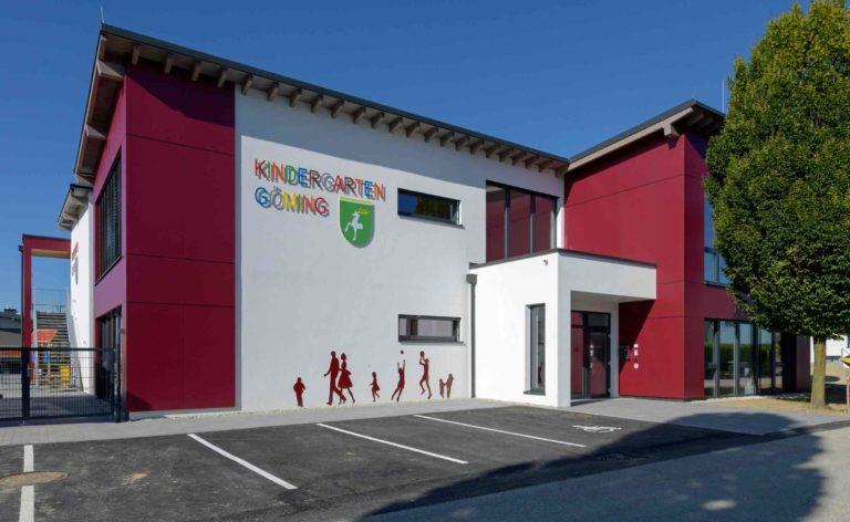 Göming hat erstmals einen eigenen Kindergarten. Das Besondere daran: Er wurde von Schülern für die Gemeinde geplant. (Bild: ZVG)