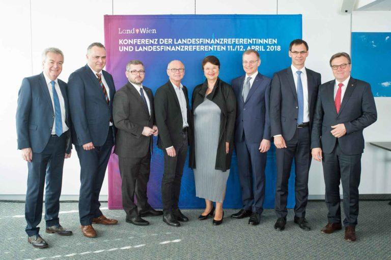 Die Landesfinanzreferenten trafen sich am 12. April 2018 in Wien, um klarzustellen, was es braucht, damit der Stabilitätspakt eingehalten werden kann. ©David Bohmann / PID