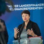 Gastgeberin, Wiens Finanzstadträtin Renate Brauner stellte klar, dass bei der Abschaffung des Pflegeregresses im worst case Szenario auch der Ganz zum Verfassungsgerichtshof nicht ausgeschlossen wird. ©David Bohmann / PID
