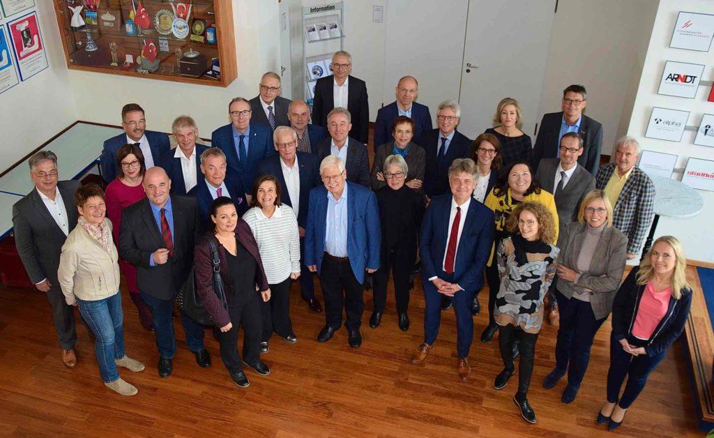 In Nürnberg trafen sich die Vertreter der Kommunen: Der Rat der Gemeinden und Regionen/Deutsche Sektion (RGRE), der Österreichische Städtebund und der Österreichische Gemeindebund. (Bild: ZVG Deutscher Städte- und Gemeindebund)