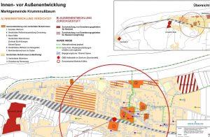 Durch Verdichtungsmaßnahmen und neue Angebote im unmittelbaren Umfeld des Ortskerns werden bedeutende Maßnahmen zur Stärkung des Zentrums im Siedlungswesen gesetzt. (Bild: Energie und Umweltagentur NÖ)