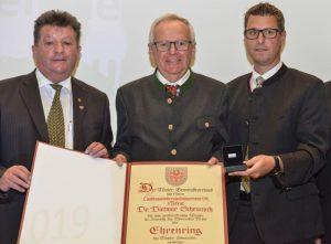 Präsident Ernst Schöpf, Landesamtsdirektor Dr. Dietmar Schennach, Vizepräsident Bgm. Christian HÄRTING ©TGV/Daniel Liebl