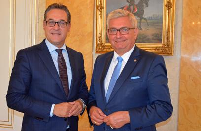 Am 1. Oktober lud Vizekanzler Heinz Christian Strache zum Antrittsbesuch des Gemeindebundes. ©Gemeindebund