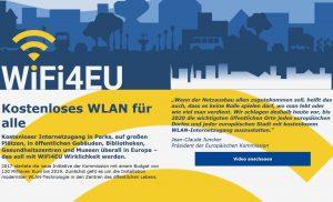 """Nach dem """"First come, first serve""""-Prinzip werden die ersten Förderanträge von Gemeinden bedient. Um gleichzeitig einen geografischen Ausgleich zu schaffen, werde die EU dafür sorgen, dass jedes Land zumindest 15 solcher Gutscheine bekommen soll. (Bildquelle: wifi4eu.eu)"""