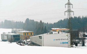 Das Unternehmerzentrum World Direct ist Teil des Unternehmergebiets in Sistrans. (Bild: ZVG)